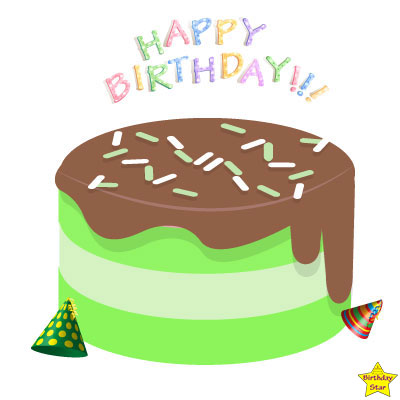 happy birthday cake clipart without candles