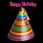 happy birthday cap png