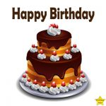 happy birthday chocolate cake clipart without candle