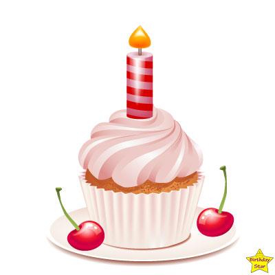 pink birthday cake clipart