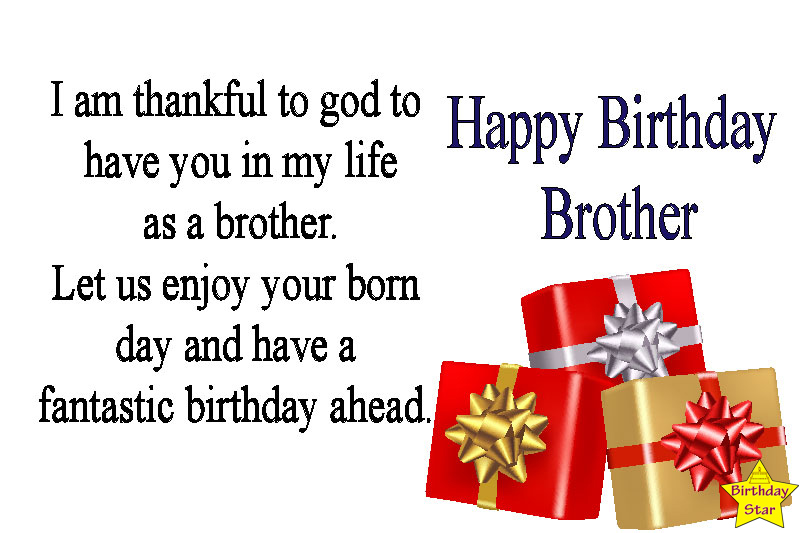 Birthday wishes for brother funny