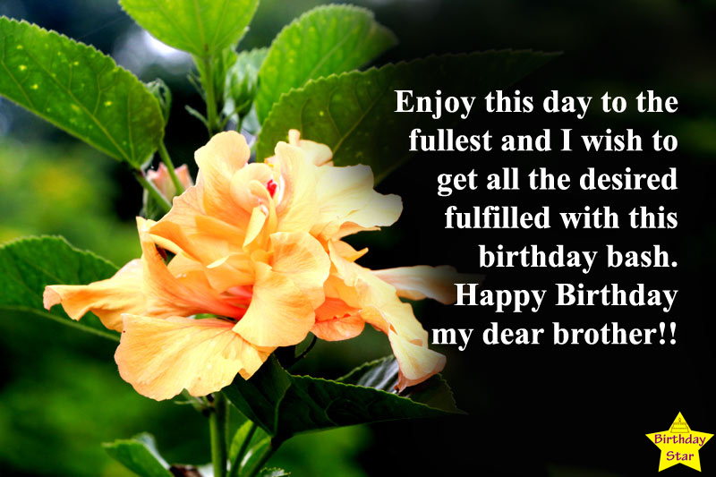 Birthday wishes for brother younger