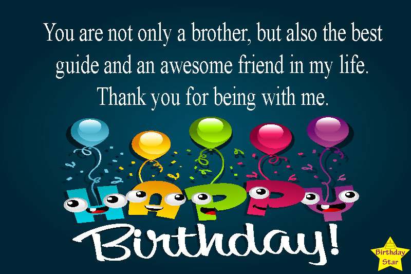 birthday quotes for my brother