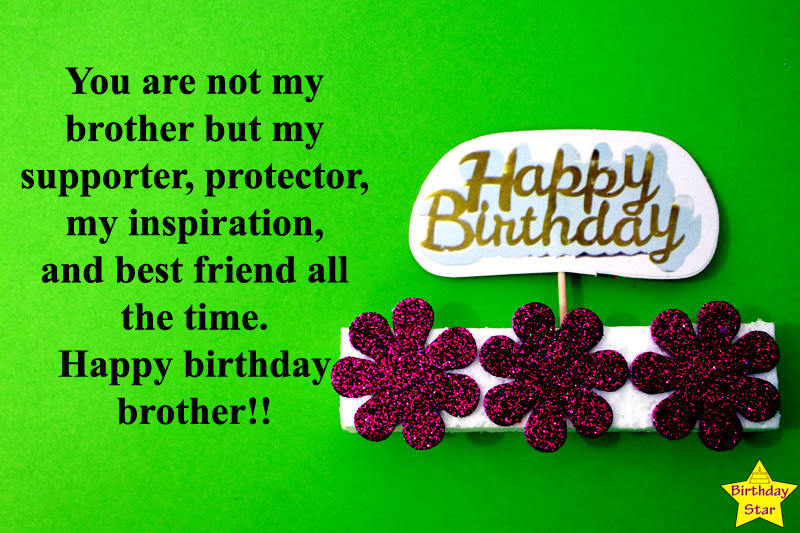 birthday wishes quotes for brother in english