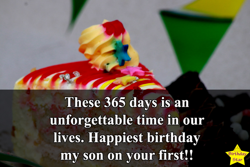 1st birthday wishes for son quotes