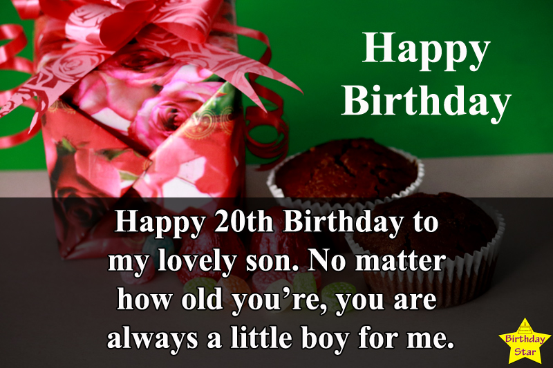 20th Happy birthday wishes for Son Quotes