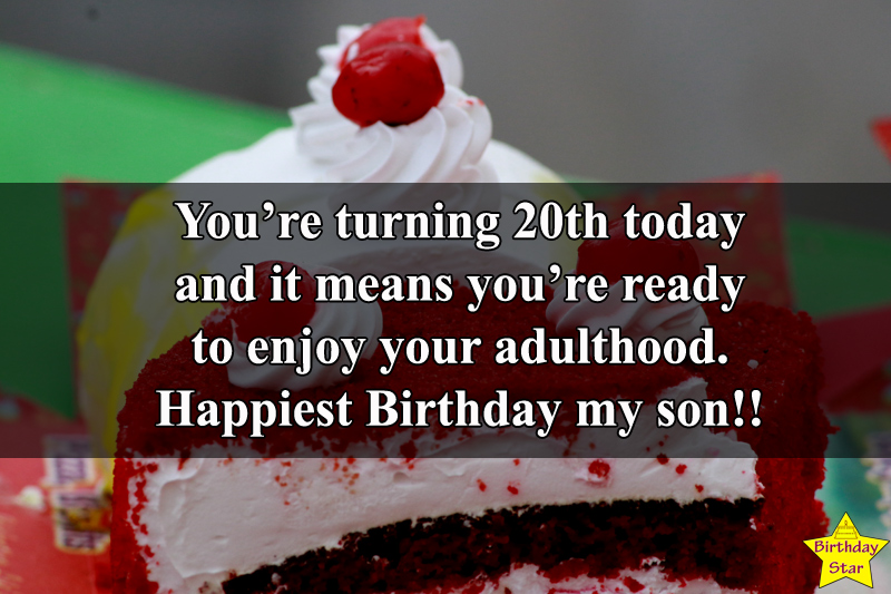 20th birthday wishes for Son Quotes