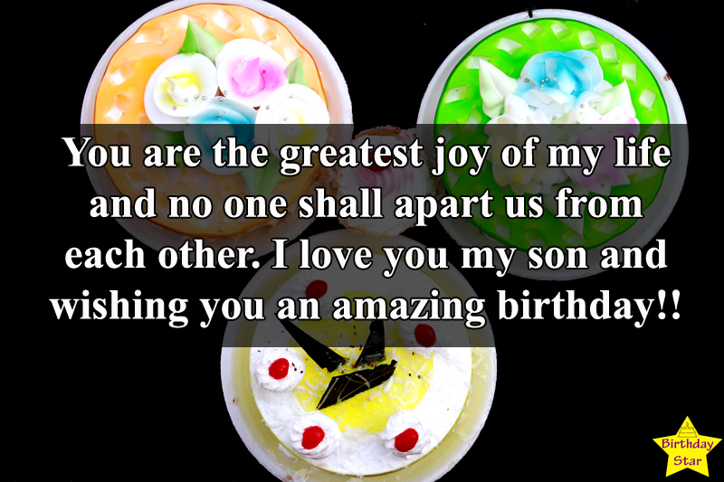 Birthday Wishes for Son by Mom