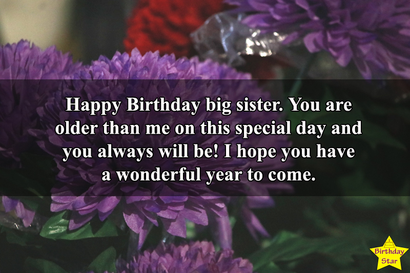Birthday wishes for a sister who is married