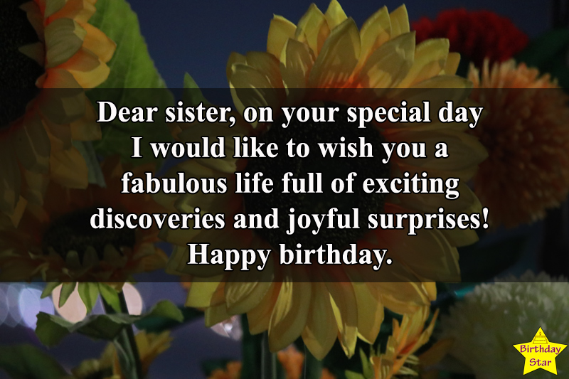 Birthday wishes for a sister who is the best friend