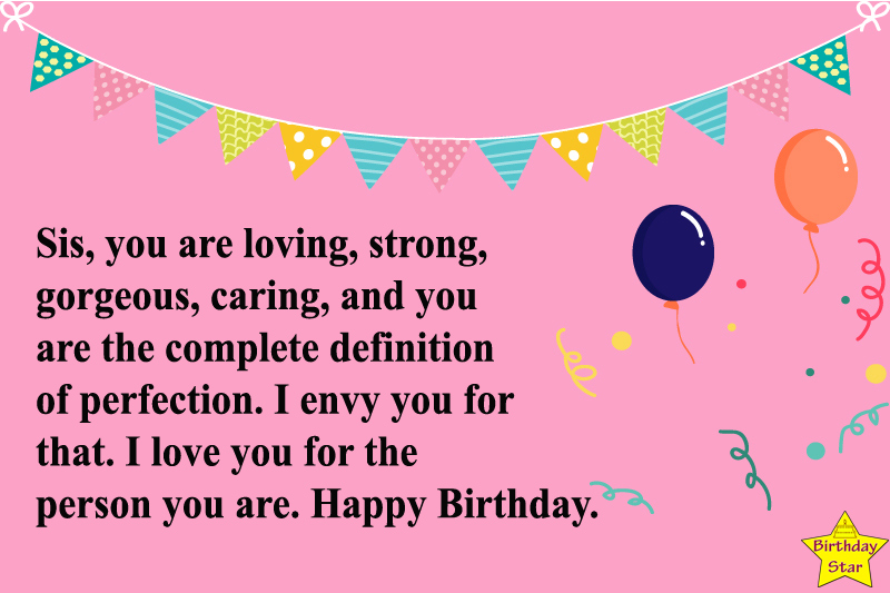 Happy Birthday Wishes And Quotes For Sister In English