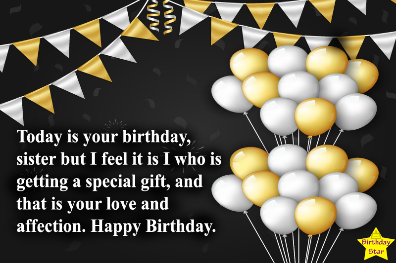 Birthday wishes for sister son