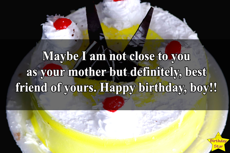 Birthday wishes for son from Masi