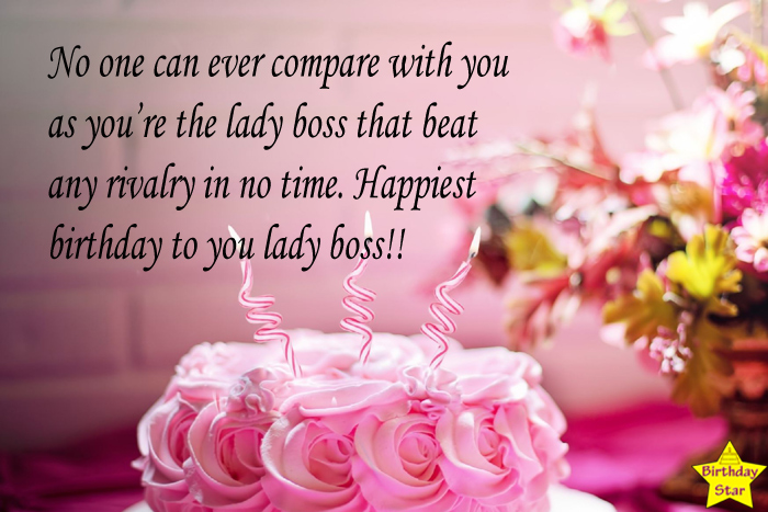 Birthday wishes for boss female