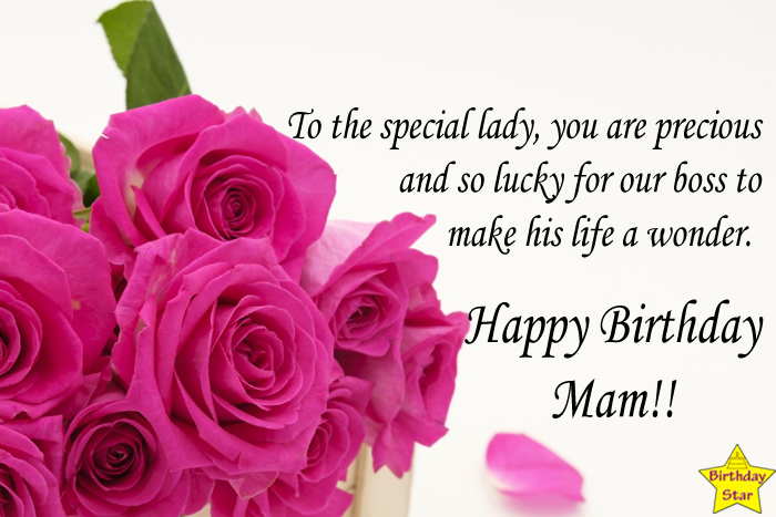 Birthday wishes for boss wife