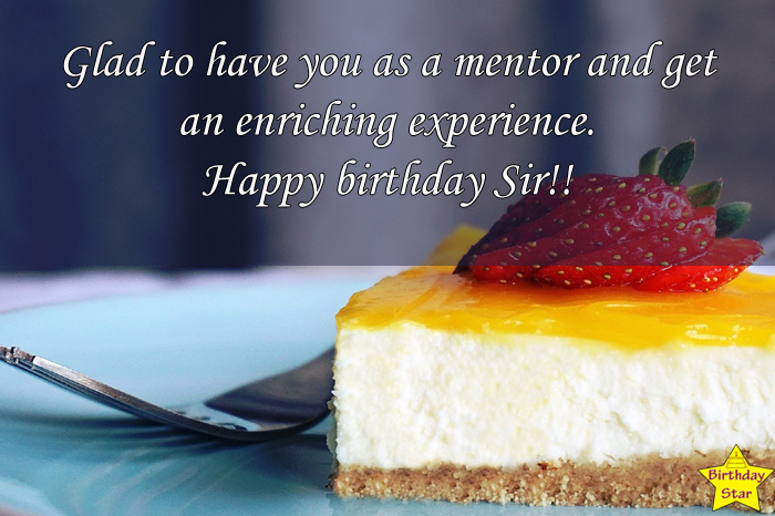 Birthday wishes for mentor sir