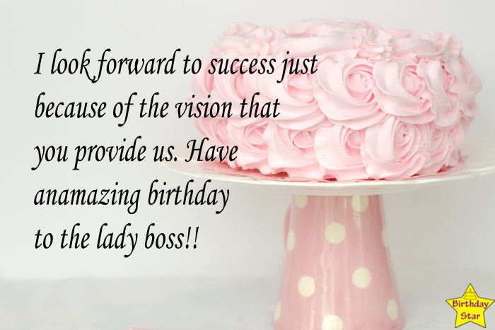 Happy Birthday wishes for boss female