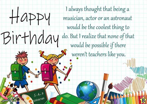 Happy Birthday Teacher Quotes