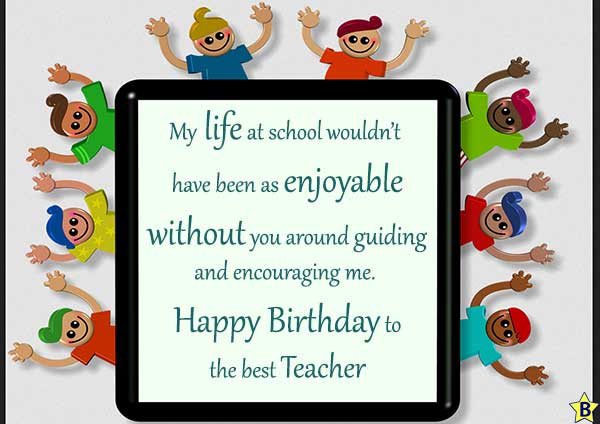 Happy Birthday Teacher Wishes
