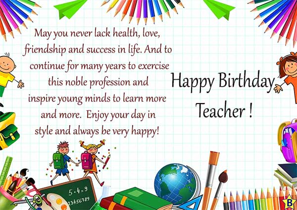 Happy Birthday Wishes for Teacher free