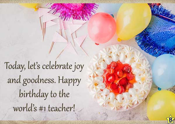 Happy Birthday Wishes for Teacher with Images