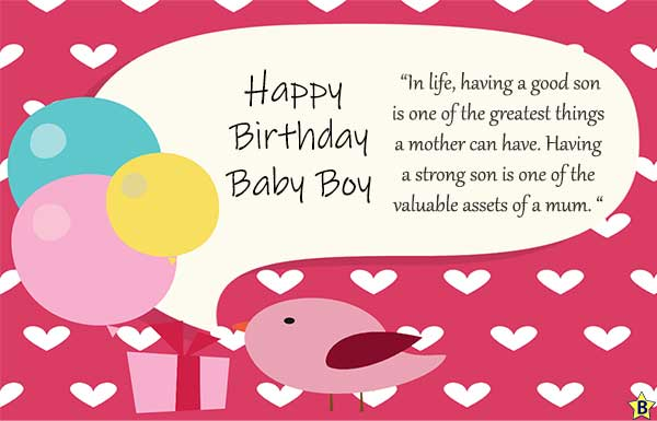 birthday wishes for baby boy