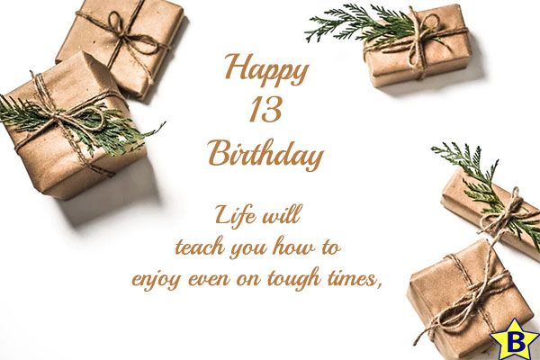 13th Birthday Images with quotes