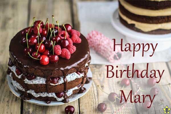 Happy Birthday Mary Cake Images