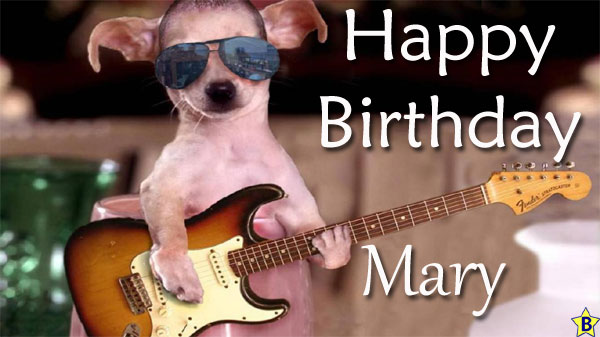 Happy Birthday Mary funny images