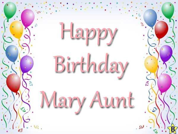 Happy Birthday mary-aunt images