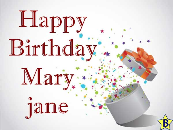 Happy Birthday maryjane images