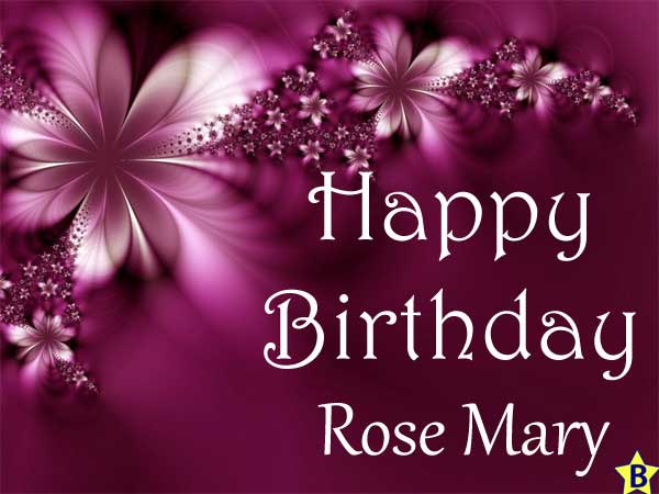 Happy Birthday rose-mary images