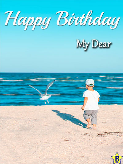 Happy birthday beach images boy