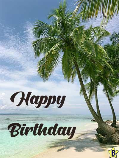 beach happy birthday images