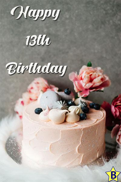 happy 13th birthday images cake