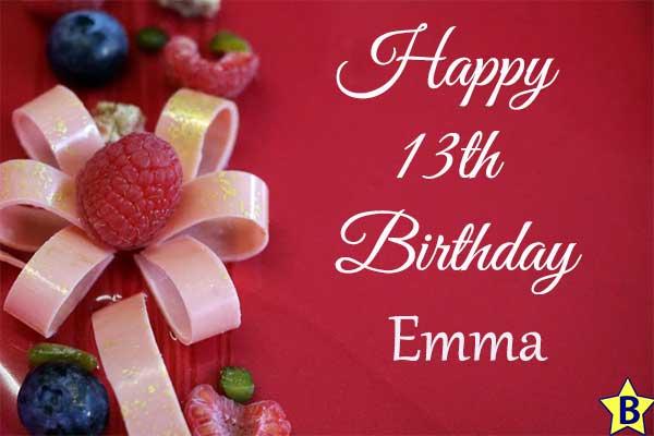 happy 13th birthday images emma