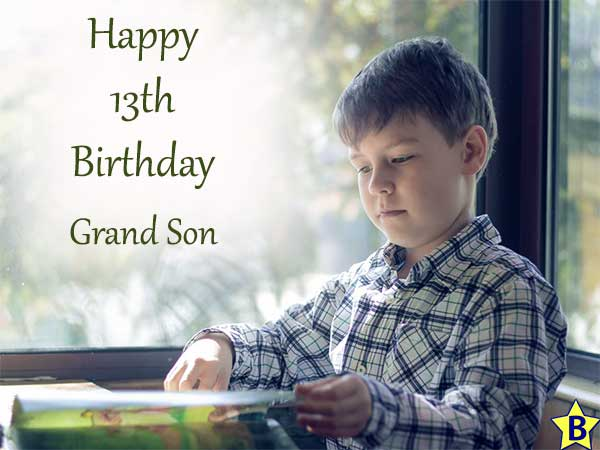 happy 13th birthday images grand-son