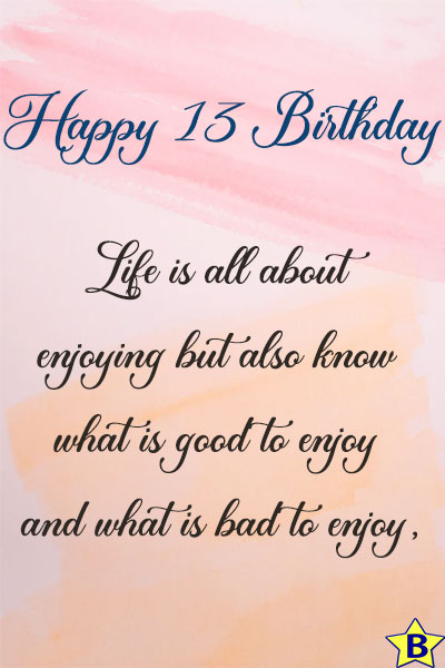 happy 13th birthday images wishes