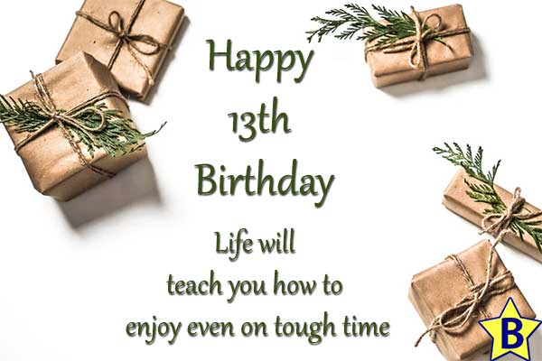 happy 13th birthday images with quotes