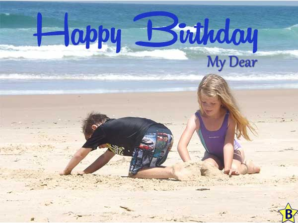 happy birthday beach images free