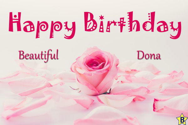 happy birthday beautiful donna images