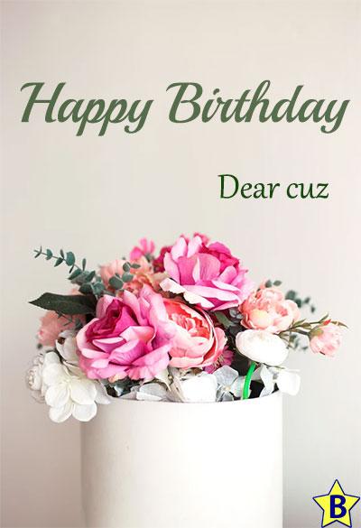 happy birthday cuz images bouquet