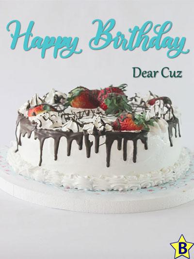 happy birthday cuz images cake