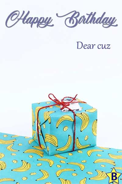 happy birthday cuz images gift