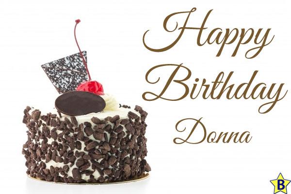 happy birthday donna cake images