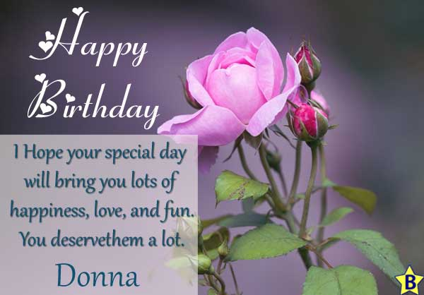 happy birthday donna images with quotes