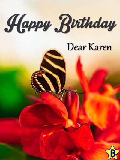 happy birthday karen images butterfly-on-flower