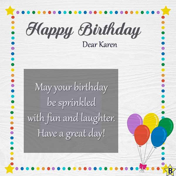 happy birthday karen images with quotes