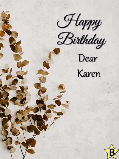 happy birthday karen pictures