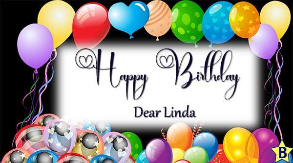happy birthday linda images balloon